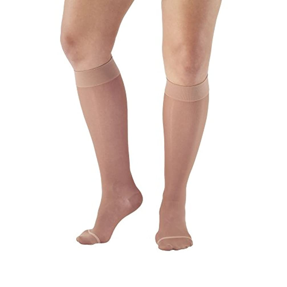 協定不要誘発するAmes Walker Women's AW Style 16 Sheer Support Closed Toe Compression Knee High Stockings - 15-20 mmHg Lt. Nude X-Large 16-XL-LT NUDE Nylon/Spandex by Ames Walker
