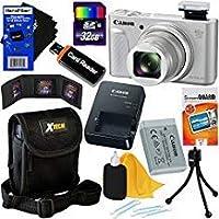 Canon PowerShot sx730HS 20.3MPデジタルカメラwith 40x光学ズーム、Wi - Fi、NFC、Bluetooth & HD 1080pビデオ(シルバー)インターナショナルバージョン+ 10pc 32GBアクセサリキットW/HeroFiber Gentleクリーニングクロス