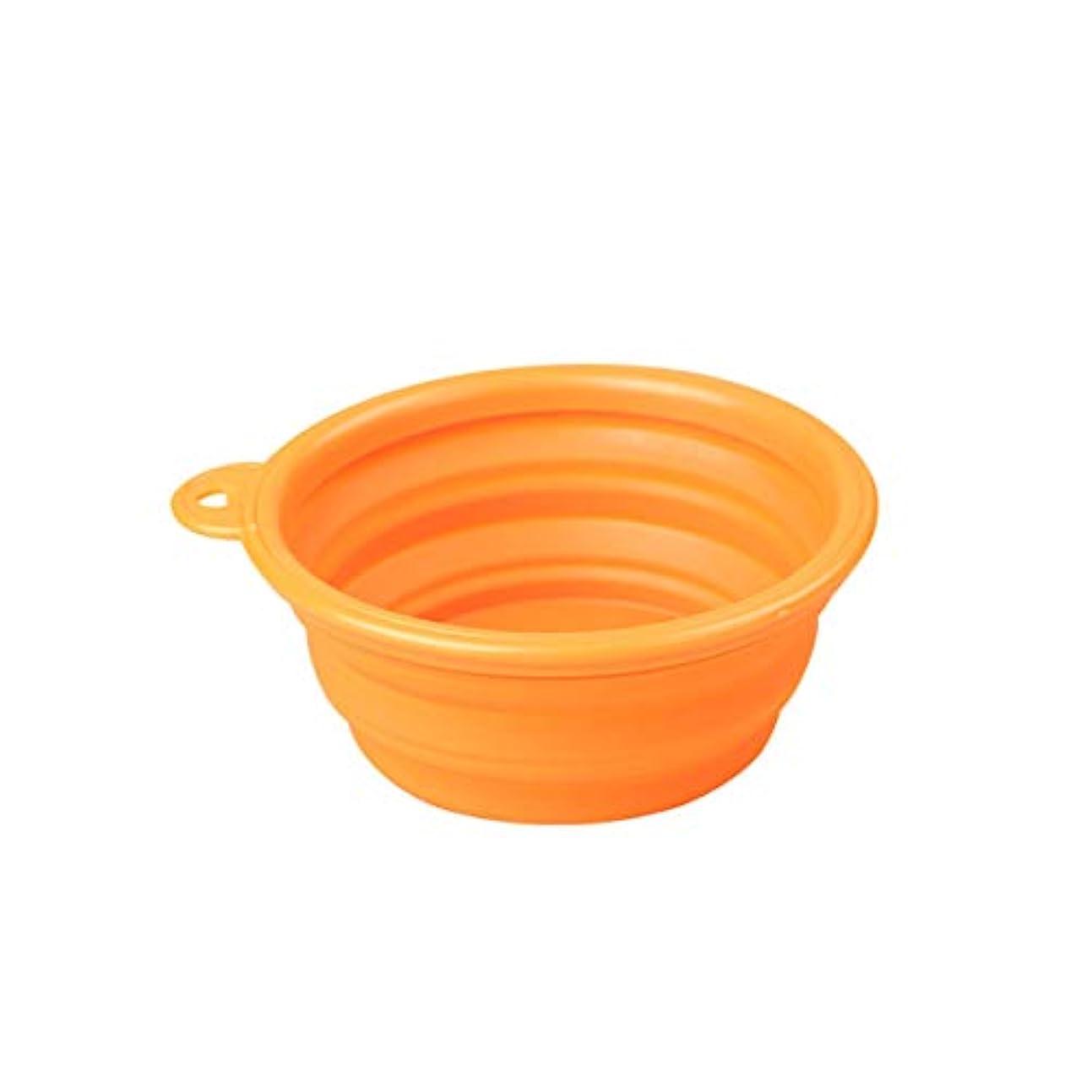 Xian ペットポータブル折りたたみボウル、犬のボウル、犬の猫、シリコンウォーターボウル、ペット用品、ランダムな色 Easy to Clean Non-Skid Bowls for Dogs (Color : Random)