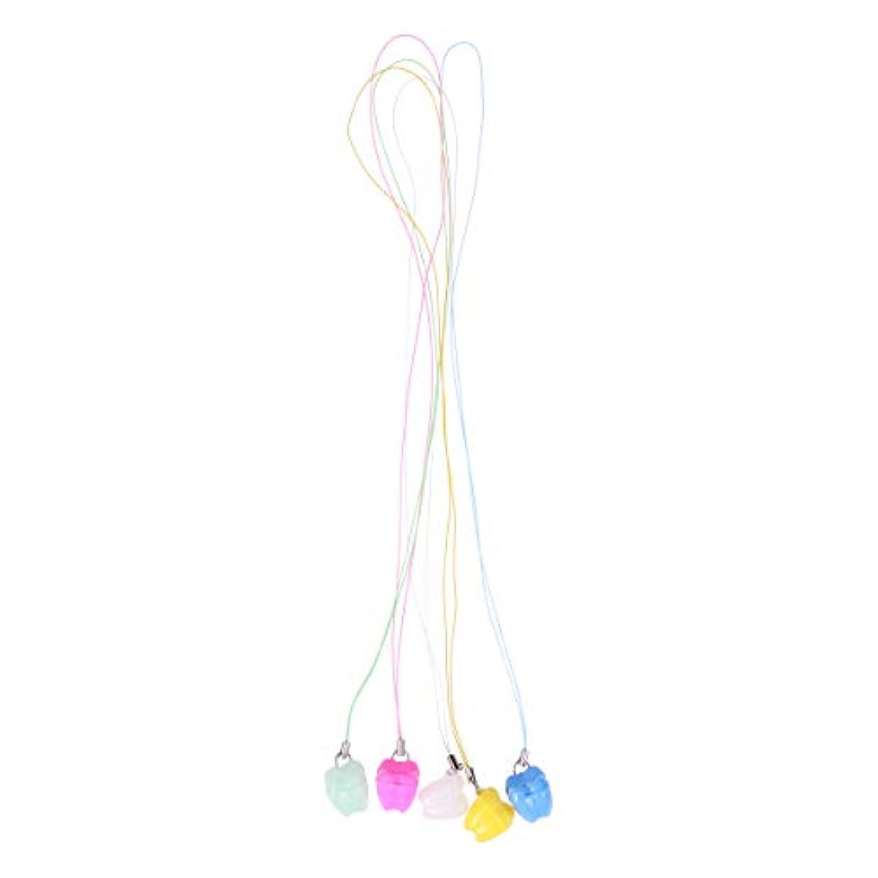 拡声器お手伝いさんイヤホンSUPVOX プラスチック製の赤ちゃんの歯のセーバーネックレスケース5個入りランダム歯収納ボックス