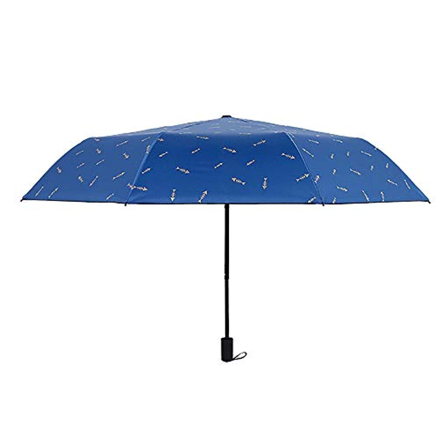 カート方法特徴づける雨と雨の二重使用の折り畳み傘ビジネスUV保護傘クリエイティブ魚骨の傘のカスタマイズ
