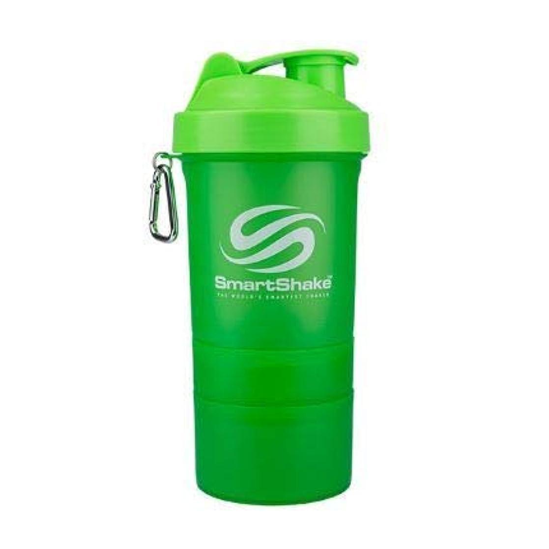 ジャズジャングル抑圧者Smartshake英国株式会社Smartshake Smartshakeボトル-ネオングリーン1×600ミリリットル(それ)