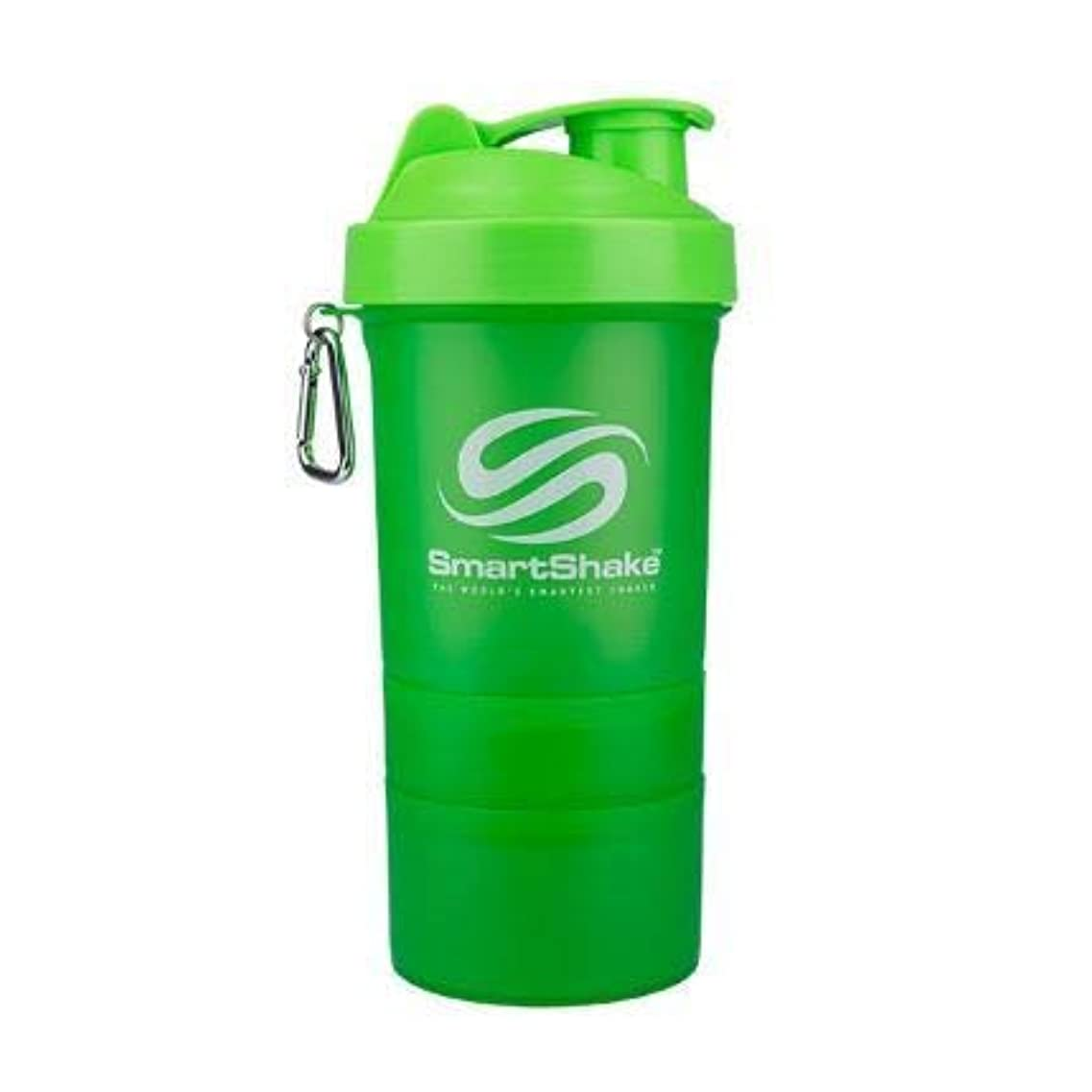 幽霊辞任するおなじみのSmartshake英国株式会社Smartshake Smartshakeボトル-ネオングリーン1×600ミリリットル(それ)