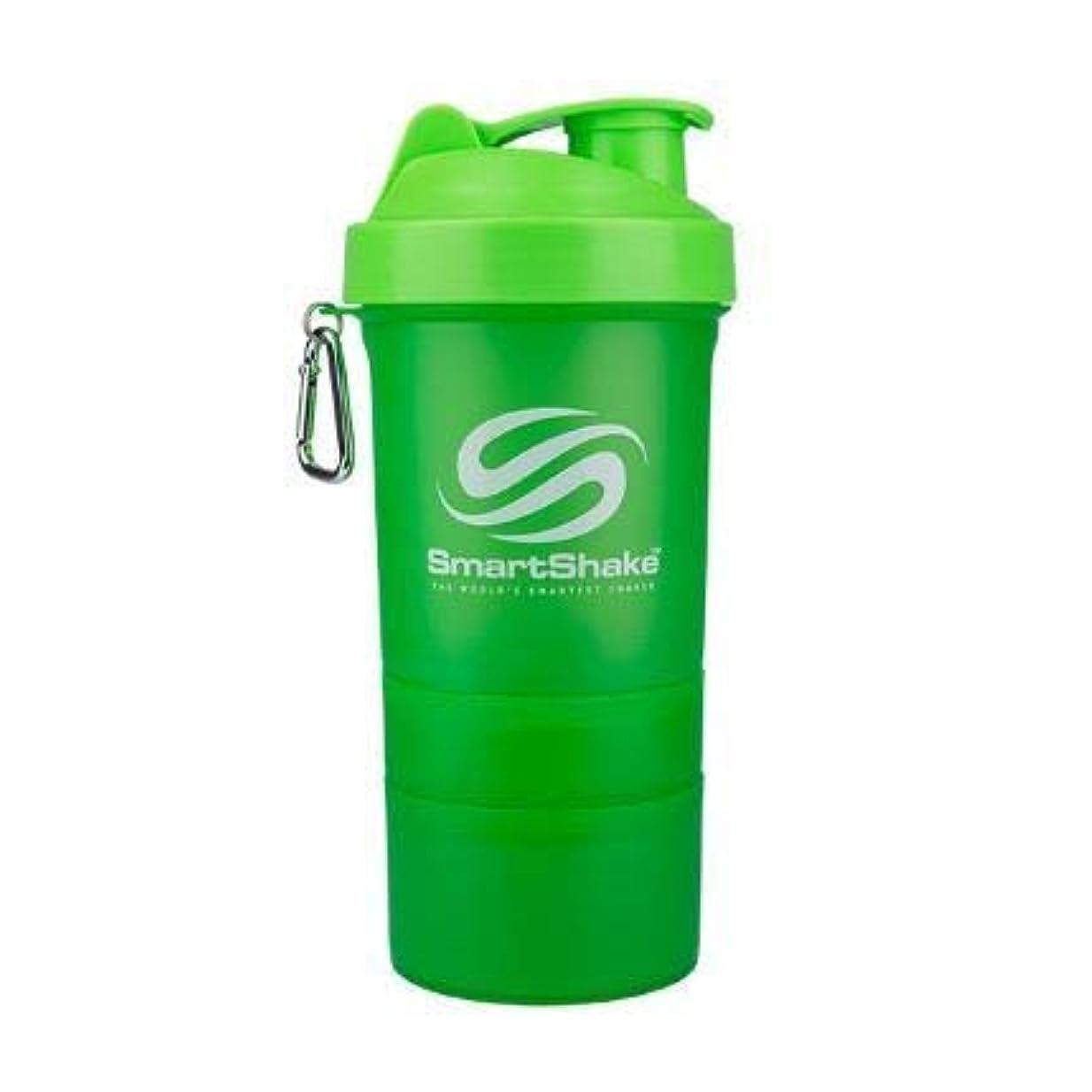 後方にくしゃくしゃ比べるSmartshake英国株式会社Smartshake Smartshakeボトル-ネオングリーン1×600ミリリットル(それ)