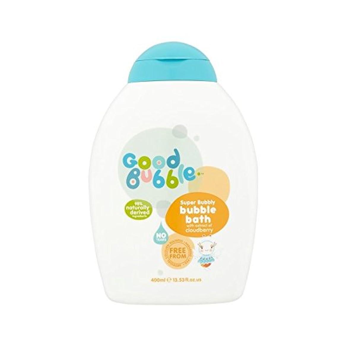 販売員本土ヘルパークラウドベリーエキスの400ミリリットルと泡風呂 (Good Bubble) (x 4) - Good Bubble Bubble Bath with Cloudberry Extract 400ml (Pack of...
