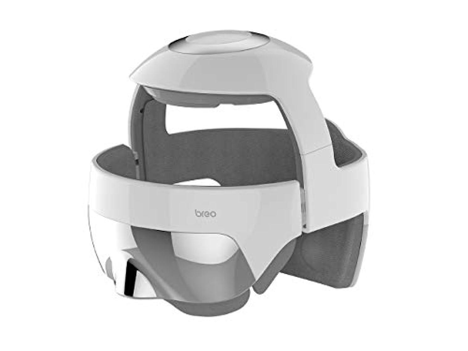 眼お風呂雄大なbreo(ブレオ) i-Brain5S(アイブレイン5エス) トータルヘッドスパ 頭 目元 USB充電 エア 温め リラックス コードレス メーカー保証有