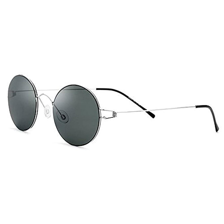 不足ラウンジ道徳のサングラス 運転 偏光レンズホルダー ゴルフ メンズ サングラスフレームレスデザイン WS-22 (Green)