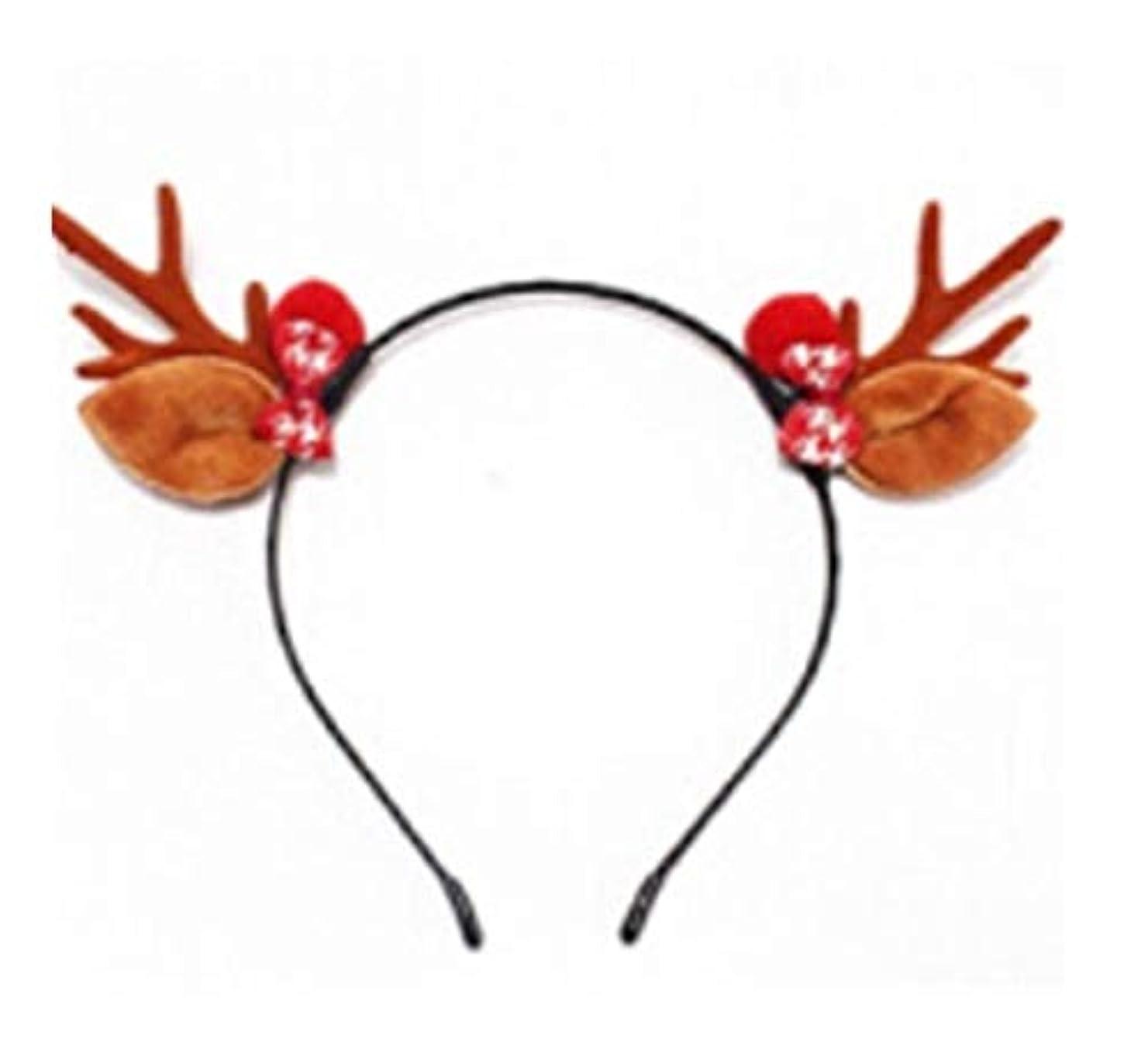猟犬出口文字通りクリスマスヘッドバンドの枝角のティアラヘアクリップセン女性のヘアアクセサリーは、甘いヘッドバンド小さなヘラジカのヘアクリップピスタチオアントラーズの耳のカチューシャを装飾します (Style : E)