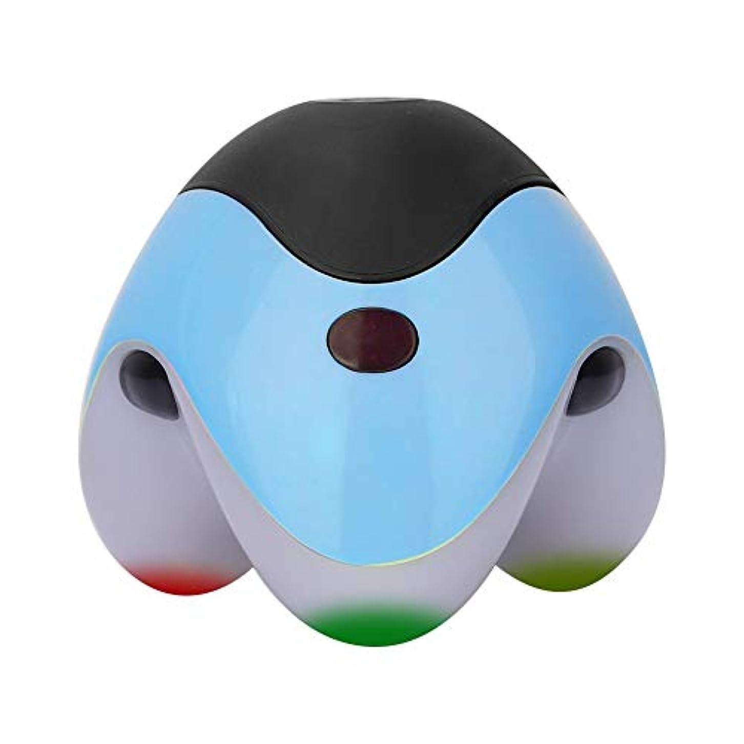 シロクマでも消去Nitrip ボディマッサージ ハンディマッサージャー ボティローラー 全身用 血行促進 疲労緩和 ストレス解消 ヘルスケア マッサージツール 携帯便利 4色(青)