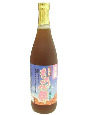 沖縄工業商事 沖縄産 黒麹もろみ酢 黒糖入り 瓶720ml