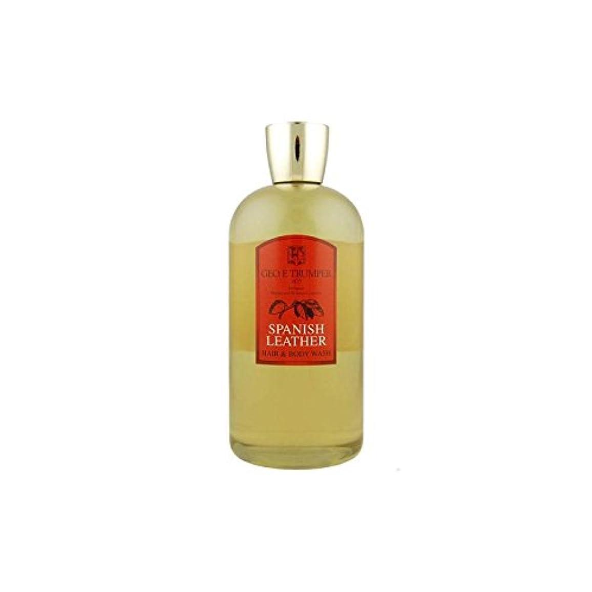 過言潜水艦気になるTrumpers Spanish Leather Hair and Body Wash - 500mlTravel Bottle (Pack of 6) - 革の髪とボディウォッシュスペイン語 - 500ボトル x6 [...