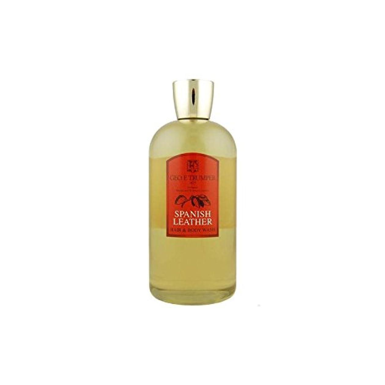 ペースト技術者悲観主義者革の髪とボディウォッシュスペイン語 - 500ボトル x4 - Trumpers Spanish Leather Hair and Body Wash - 500mlTravel Bottle (Pack of 4) [...