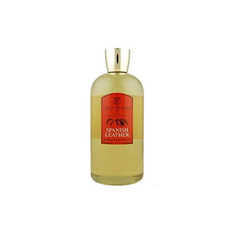 バケット熟考するループ革の髪とボディウォッシュスペイン語 - 500ボトル x4 - Trumpers Spanish Leather Hair and Body Wash - 500mlTravel Bottle (Pack of 4) [並行輸入品]