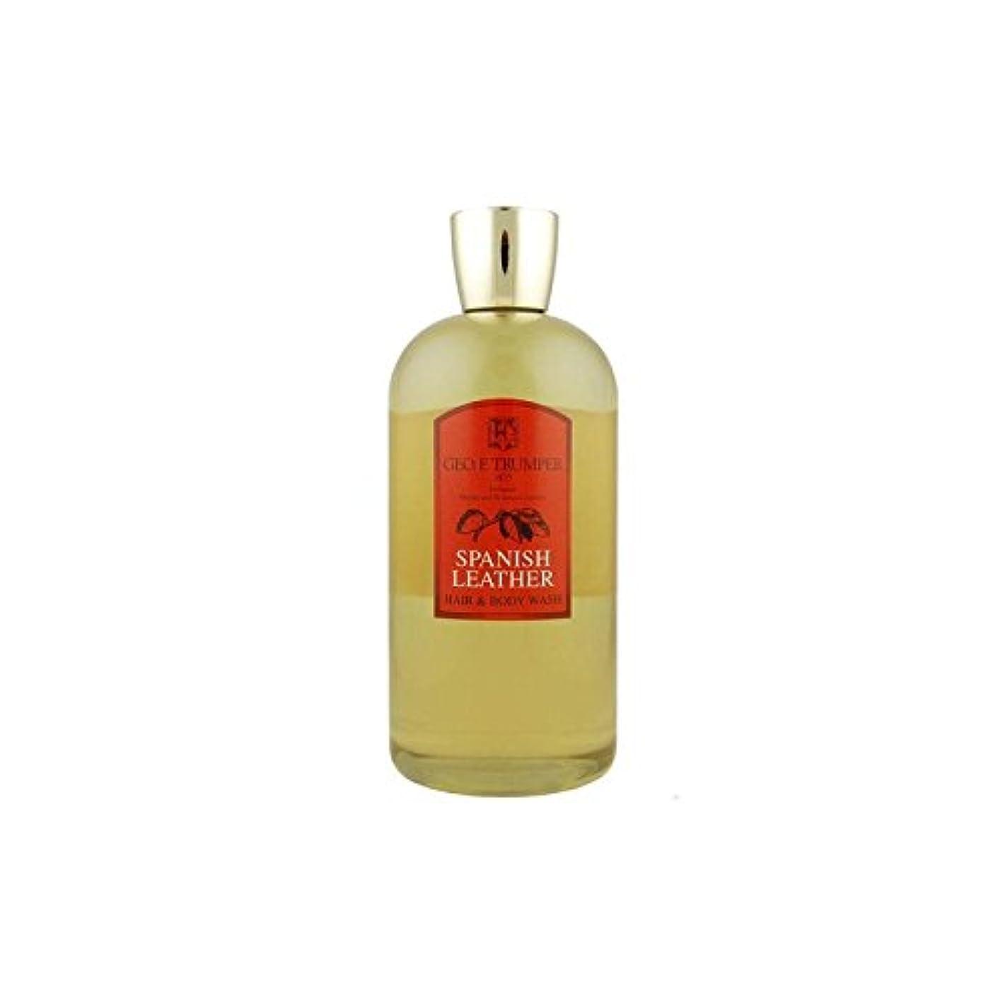 幻滅する役に立つ韓国語革の髪とボディウォッシュスペイン語 - 500ボトル x4 - Trumpers Spanish Leather Hair and Body Wash - 500mlTravel Bottle (Pack of 4) [...