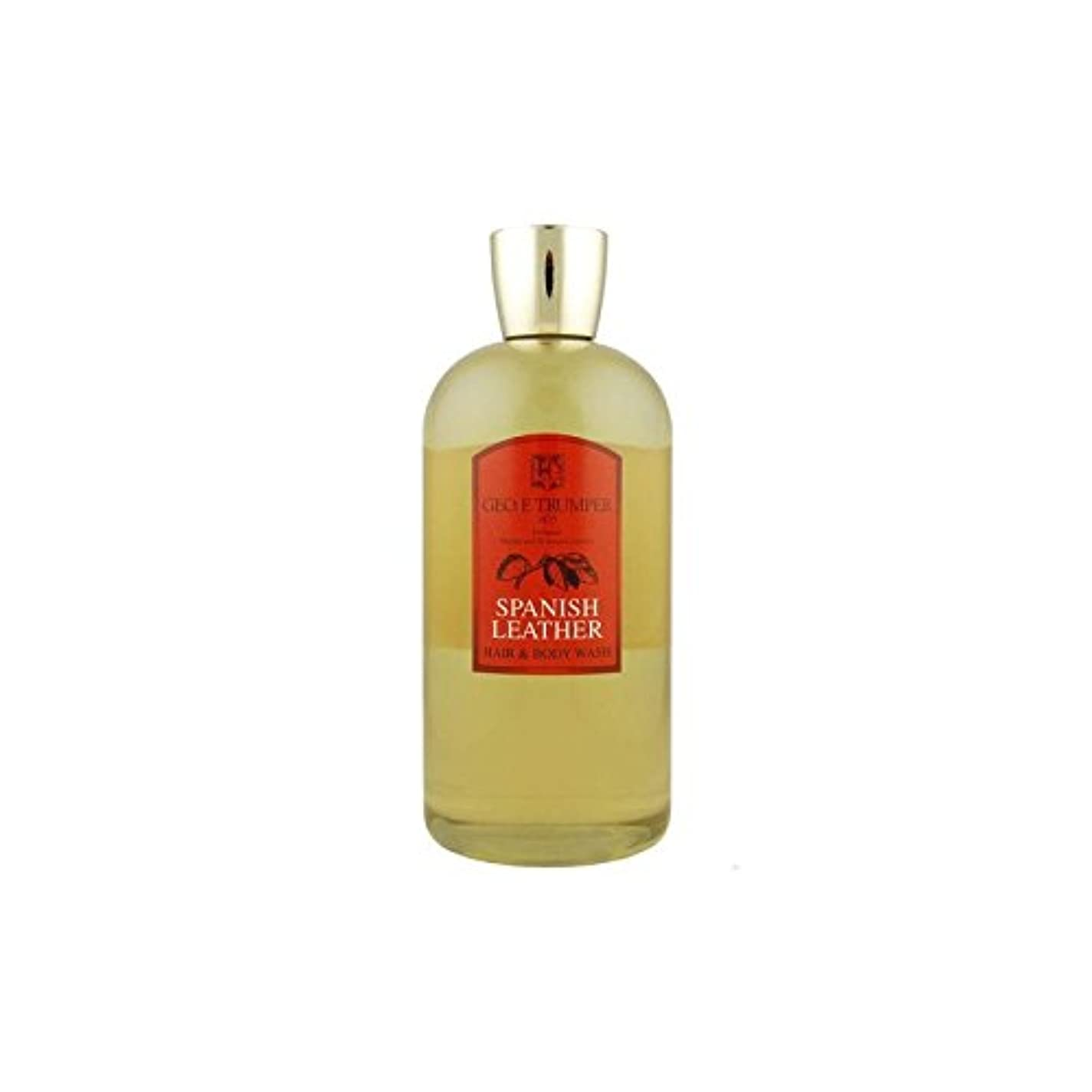 万一に備えてスクレーパー中絶革の髪とボディウォッシュスペイン語 - 500ボトル x4 - Trumpers Spanish Leather Hair and Body Wash - 500mlTravel Bottle (Pack of 4) [...