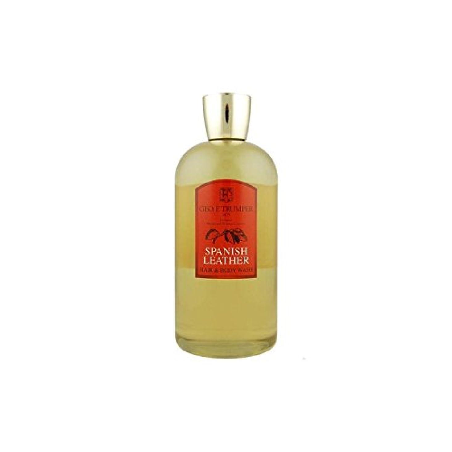 いう課税浅い革の髪とボディウォッシュスペイン語 - 500ボトル x4 - Trumpers Spanish Leather Hair and Body Wash - 500mlTravel Bottle (Pack of 4) [...