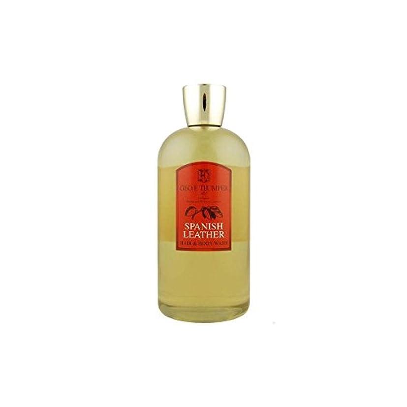 エジプト眠っている影響革の髪とボディウォッシュスペイン語 - 500ボトル x4 - Trumpers Spanish Leather Hair and Body Wash - 500mlTravel Bottle (Pack of 4) [並行輸入品]