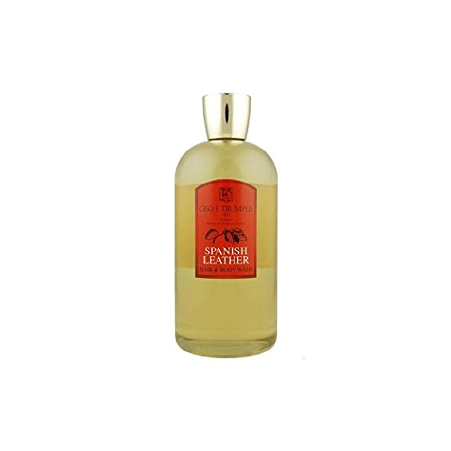 等々アンプ右革の髪とボディウォッシュスペイン語 - 500ボトル x4 - Trumpers Spanish Leather Hair and Body Wash - 500mlTravel Bottle (Pack of 4) [...