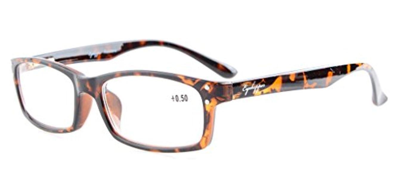 アイキーパー(Eyekepper) 読書用 良質 バネ蝶番式テンプル メンズ レディース 男 女 兼用 リーディンググラス シニアグラス 老眼鏡 ケース&クロス付き +1.25 ベッコウ色