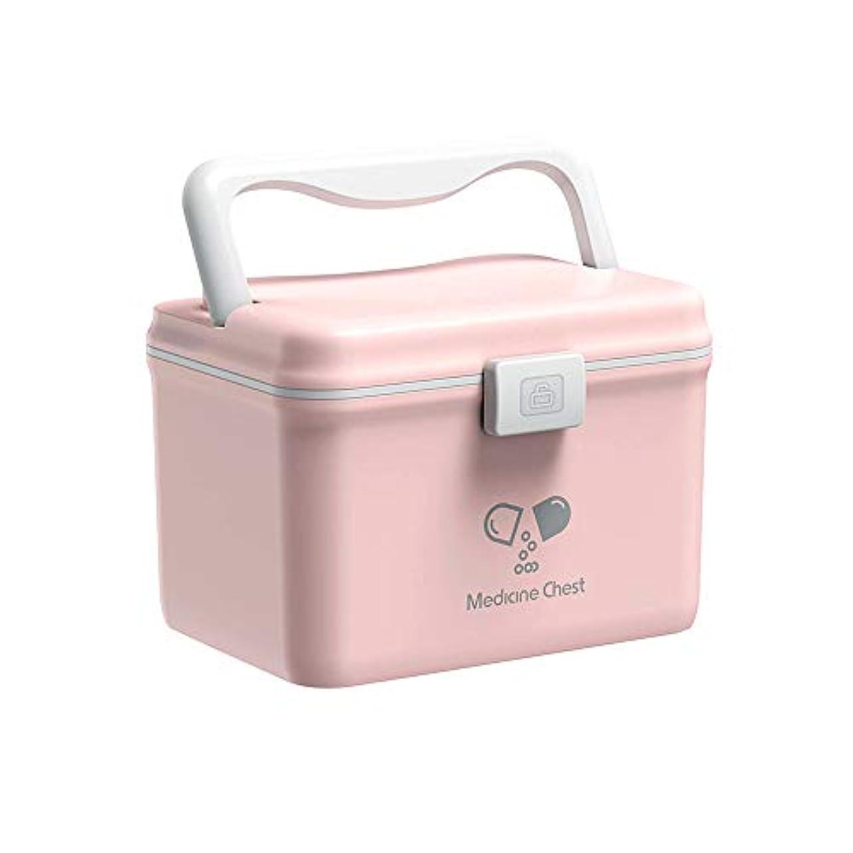適合するファシズム帰するQD-SGMP 薬箱 ドラッグケース 応急ボックス 旅行収納 家庭用 車用 救急箱 収納ケース ツールボックス 薬入れ 小物入れ 収納化粧 多機能収納ケース 引き出し付き 大容量 軽量 (ピンク)