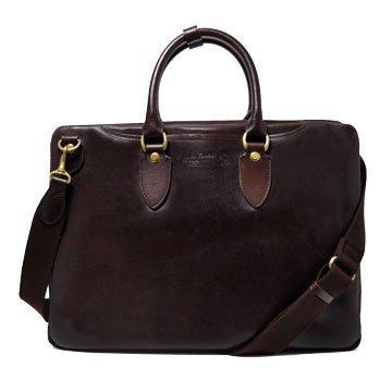 (アオキカバン)青木鞄 ブリーフケース 4192 チョコ...