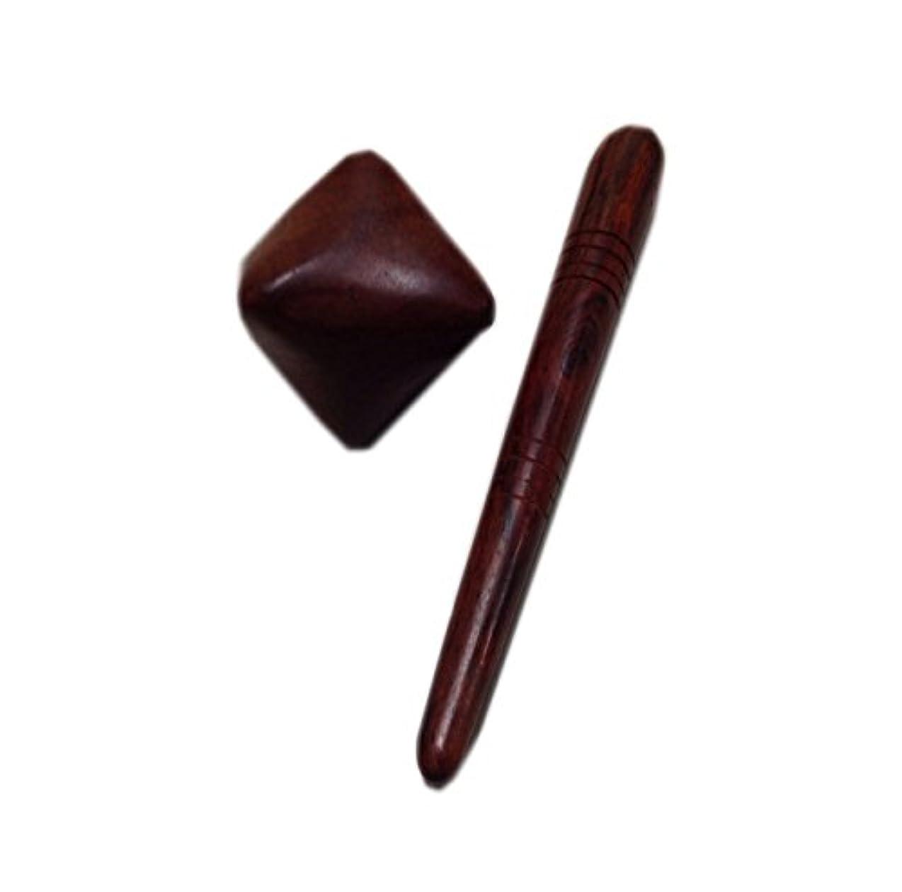 ハーブ弁護チョコレートツボ押しスティック&キューブ ウッド