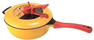 平野レミの鍋 ドゥ!レミパン 蒸し台付き イエロー(オリジナルミトン付き) 24cm