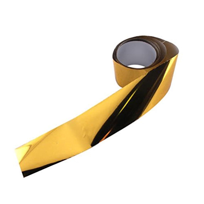 あるポーク楕円形アイスジェル ジェルネイル  オーロラシート(ゴールド)