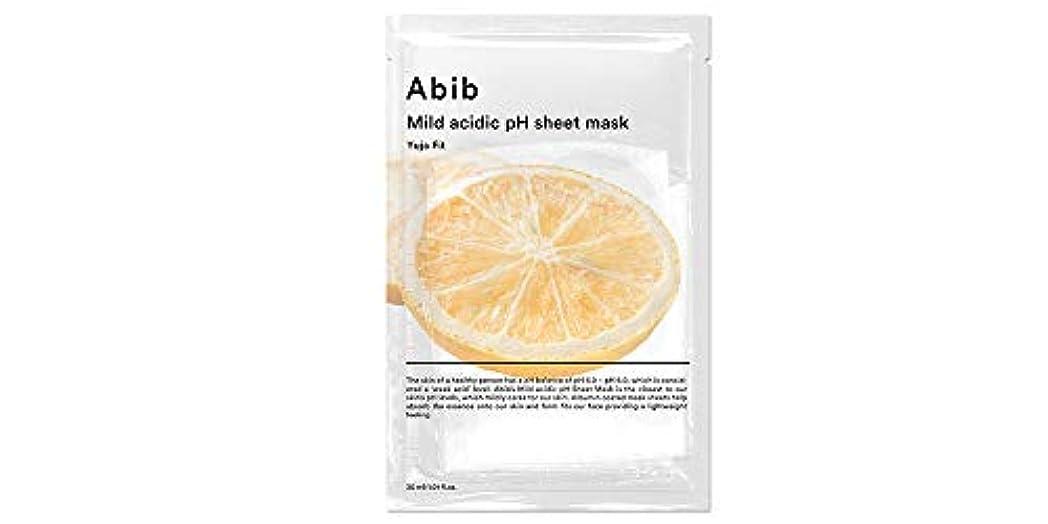特許復讐不健全[Abib] アビブ弱酸性pHシートマスク柚子フィット 30mlx10枚 / ABIB MILD ACIDIC pH SHEET MASK YUJA FIT 30mlx10EA [日本国内発送]