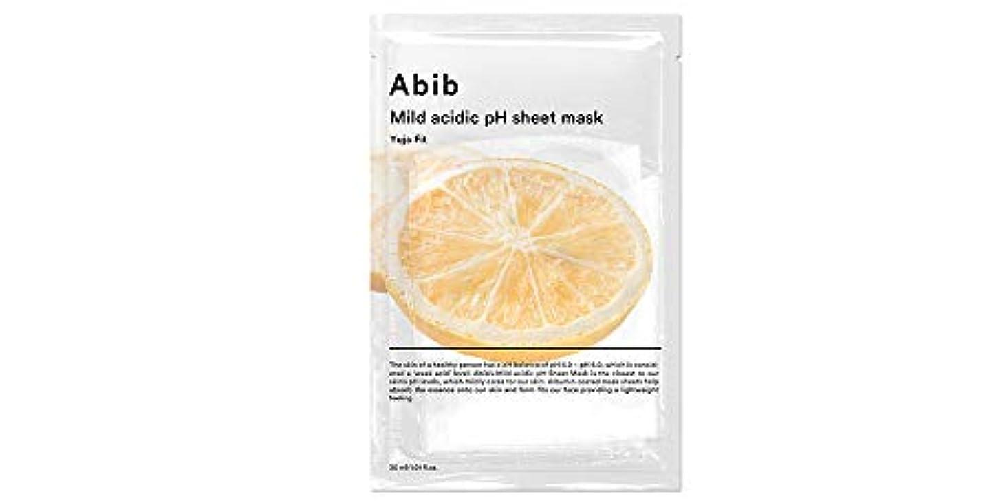 公平なリー識字[Abib] アビブ弱酸性pHシートマスク柚子フィット 30mlx10枚 / ABIB MILD ACIDIC pH SHEET MASK YUJA FIT 30mlx10EA [日本国内発送]