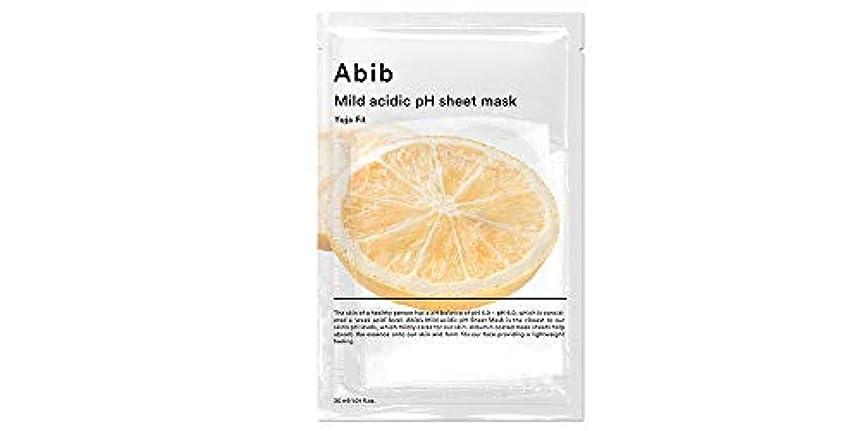 スペードいわゆるカジュアル[Abib] アビブ弱酸性pHシートマスク柚子フィット 30mlx10枚 / ABIB MILD ACIDIC pH SHEET MASK YUJA FIT 30mlx10EA [日本国内発送]
