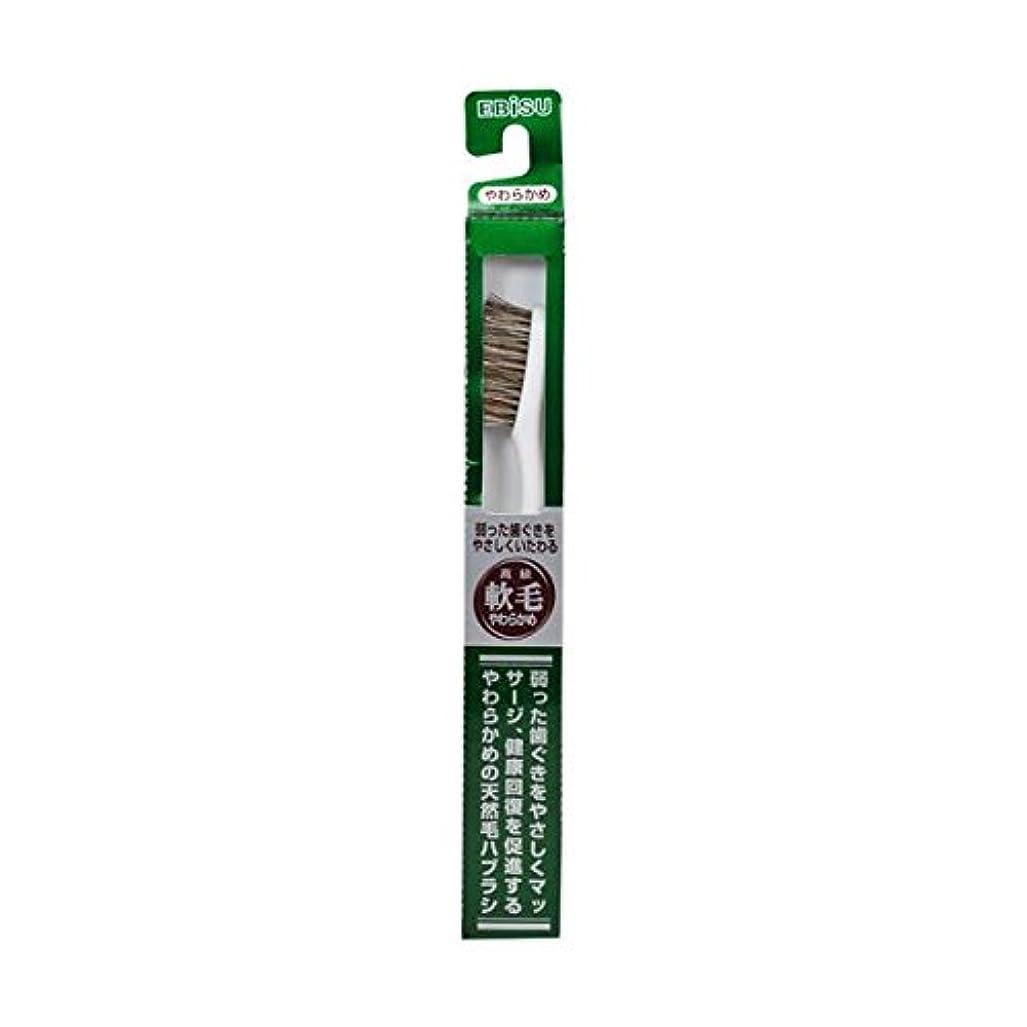 エビス 天然毛軟毛歯ブラシ350 やわらかめ ×8個セット