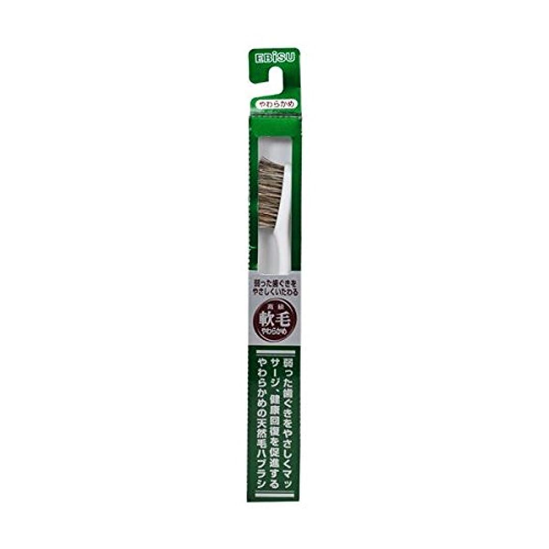 剣リファイン子供っぽいエビス 天然毛軟毛歯ブラシ350 やわらかめ ×8個セット