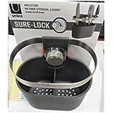 Umbra, Charcoal Holster Sure-Lock Sponge Caddy, Kitchen Organizer for Sink (1011291-149)