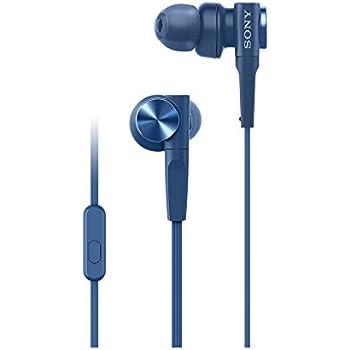 ソニー SONY イヤホン 重低音モデル MDR-XB55AP : カナル型 リモコン・マイク付き ブルー MDR-XB55AP L