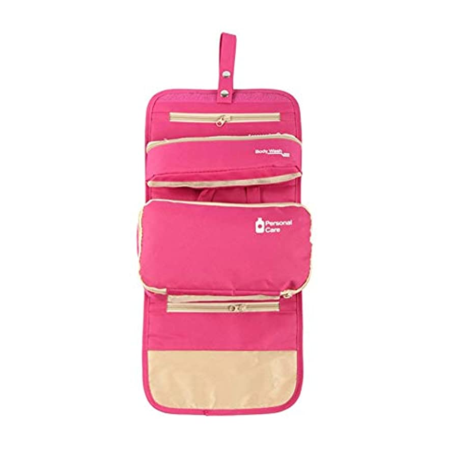 フランクワースリー法医学神経特大スペース収納ビューティーボックス 女の子の女性旅行のための新しく、実用的な携帯用化粧箱およびロックおよび皿が付いている毎日の貯蔵 化粧品化粧台 (色 : ピンク)