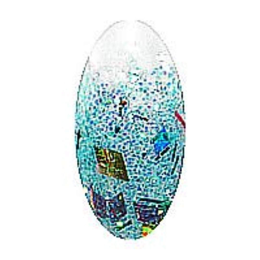 まっすぐポーン行き当たりばったりグラスネイルカラーミックス 【ターコイズ】【GCP33】