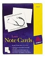 (White, 10cm - 0.6cm x 13cm - 1.3cm ) - Avery Laser Note Cards 5315 50 Cards