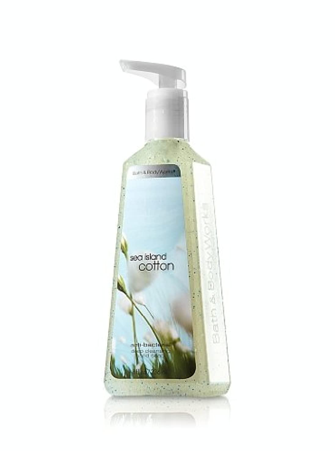 眩惑する熱永続バス&ボディワークス シーアイランドコットン ディープクレンジングハンドソープ Sea Island Cotton Deep Cleansing Hand Soap [並行輸入品]