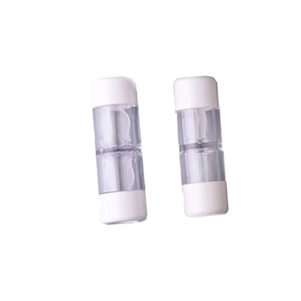 何でも若さ順応性Heallily コンタクトレンズケース1セットコンタクトレンズケースボックス収納ジャーツール瓶とピンセット付き(5ペアRGPミックスカラー)