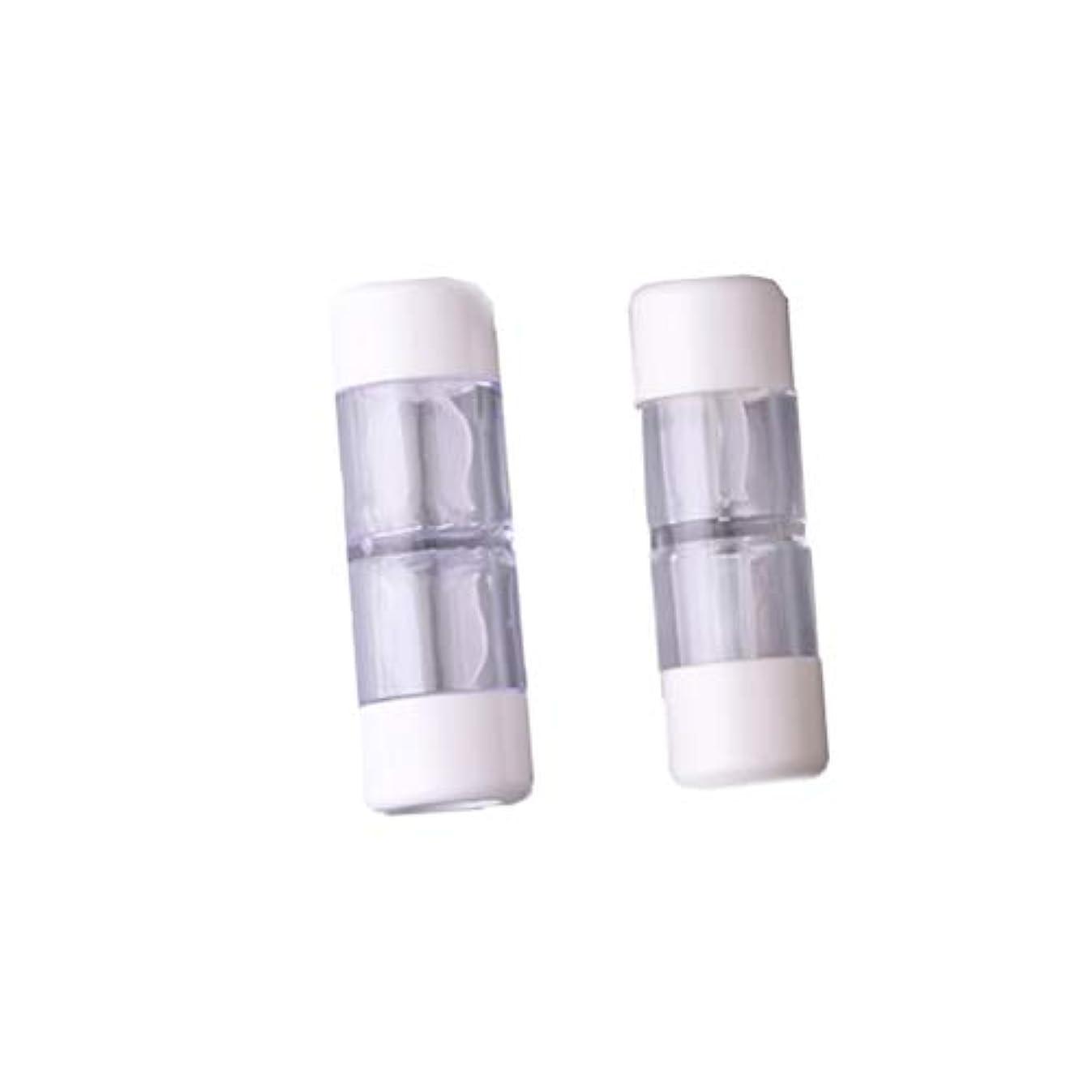 主リハーサル実用的Heallily コンタクトレンズケース1セットコンタクトレンズケースボックス収納ジャーツール瓶とピンセット付き(5ペアRGPミックスカラー)