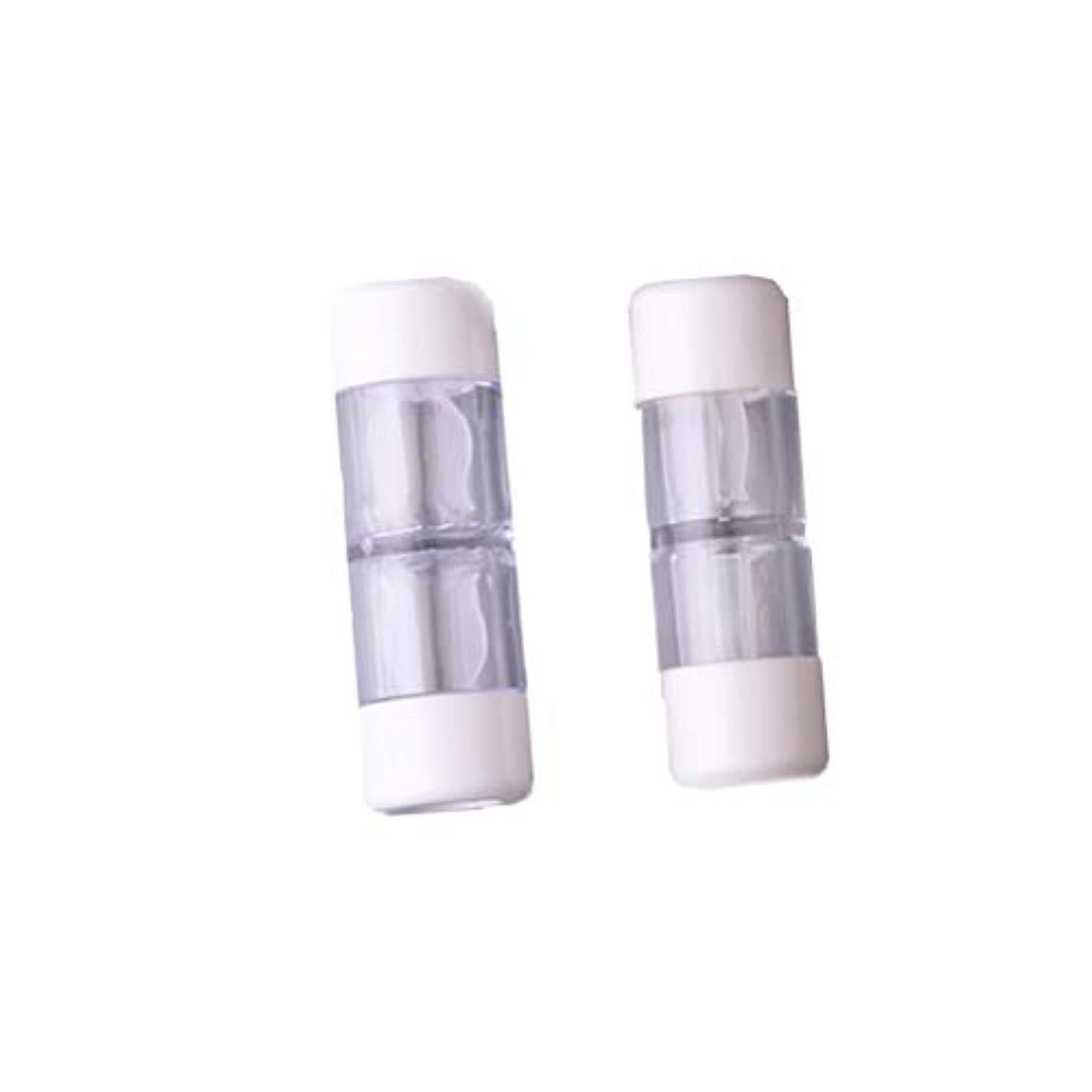 お誕生日探すプランターHeallily コンタクトレンズケース1セットコンタクトレンズケースボックス収納ジャーツール瓶とピンセット付き(5ペアRGPミックスカラー)