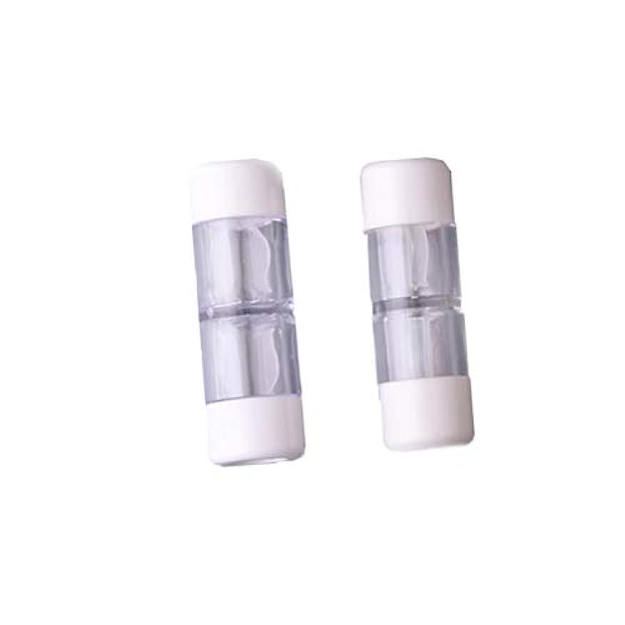 ミス電極変装したHeallily コンタクトレンズケース1セットコンタクトレンズケースボックス収納ジャーツール瓶とピンセット付き(5ペアRGPミックスカラー)