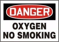 Danger No Smoking Sign、7x 10で、Eng、テキスト