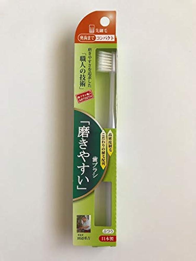 口述マニフェスト発見歯ブラシ職人 Artooth® 田辺重吉 日本製 磨きやすい歯ブラシ 奥歯まで先細毛SLT-12 (6本入)