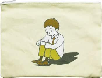 面白雑貨 ポーチ 【ぼっち】 かわいい pouch