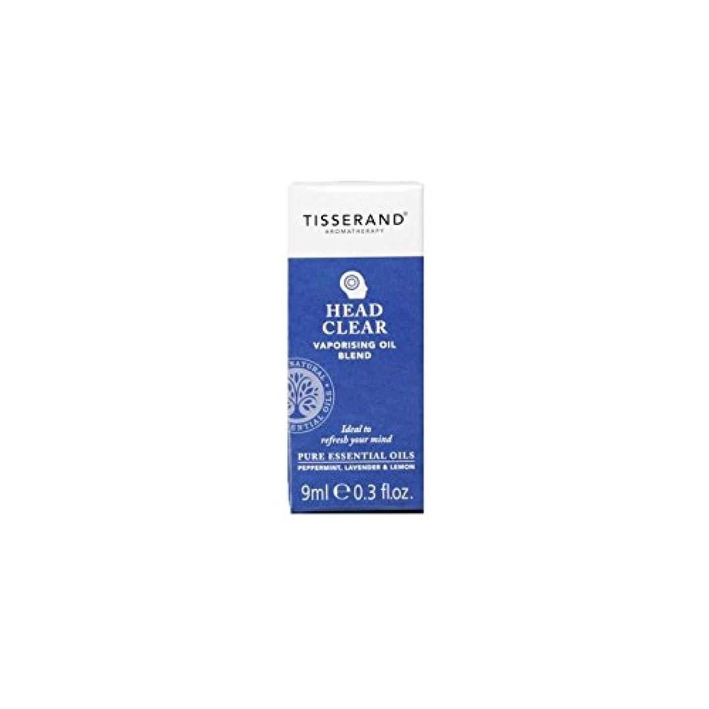 第乱雑なボトルヘッド明確な気化油の9ミリリットル (Tisserand) (x 4) - Tisserand Head Clear Vaporising Oil 9ml (Pack of 4) [並行輸入品]
