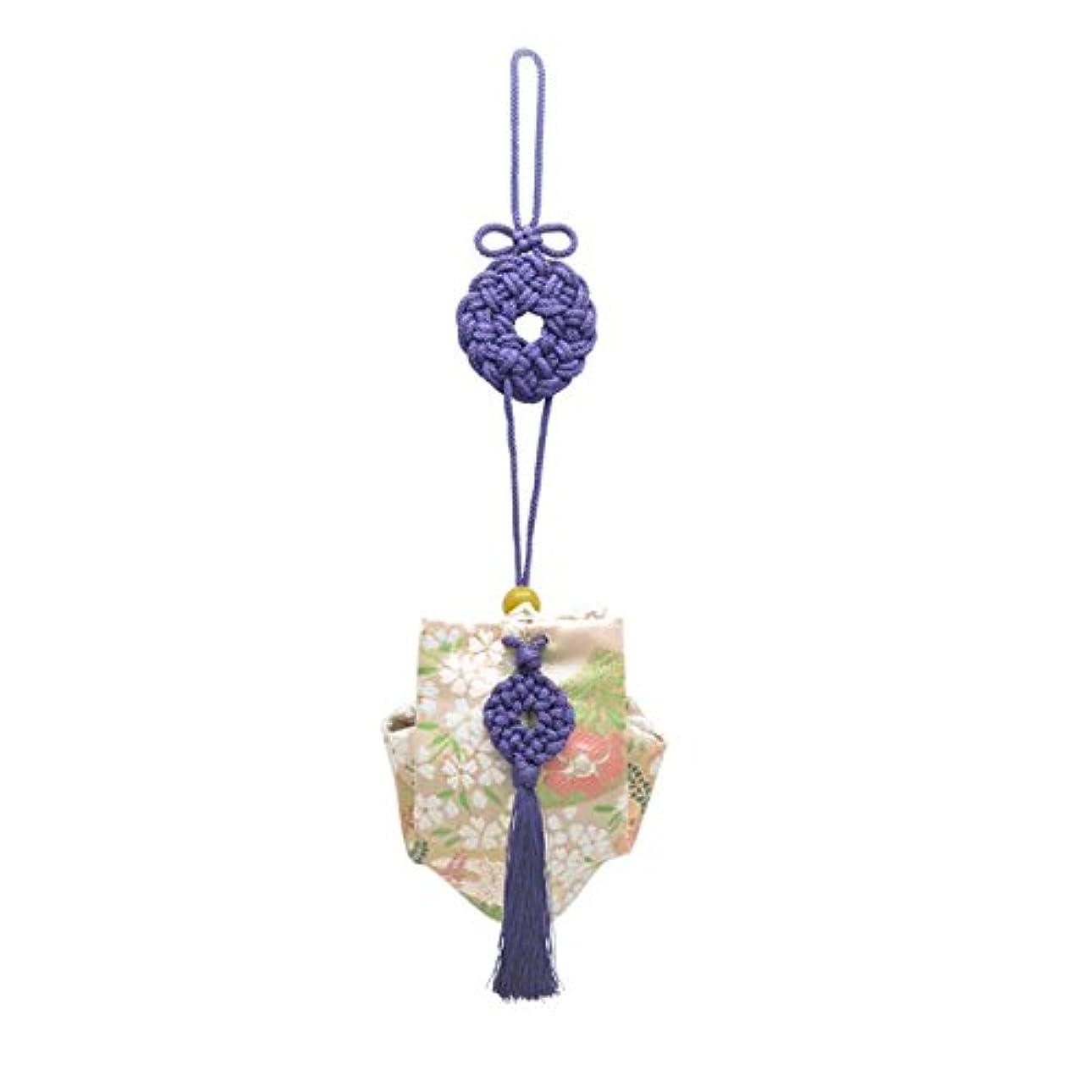 時期尚早残る進化訶梨勒 上品 紙箱入 紫紐/桜に扇面