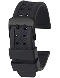 EMPIRE LWS 時計 ラバー ベルト ブラック ブラック尾錠 23mm