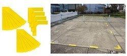 テニス 簡易コートライン STARTER COURT LINES (スターターコートラインズ) コーナー4個+直線12個 WRZ2573